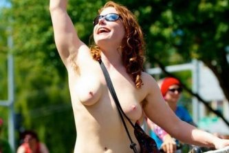 Good mood at the WNBR